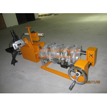 CE aprobó manualmente la máquina de soldadura del extremo de la fusión del calor del tubo de HDPE