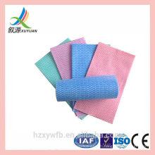 Vague de nettoyage de plat jetable de tissu non-tissé coloré de vague de ligne