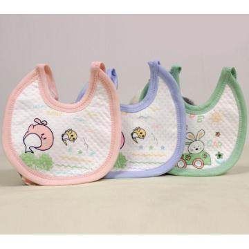 Babero de bebé suave con estampado animal impermeable