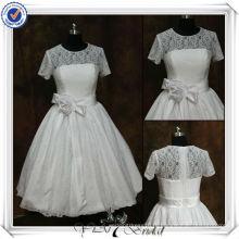 JJ3508 бальное платье чай Длина свадебные платья с рукавами