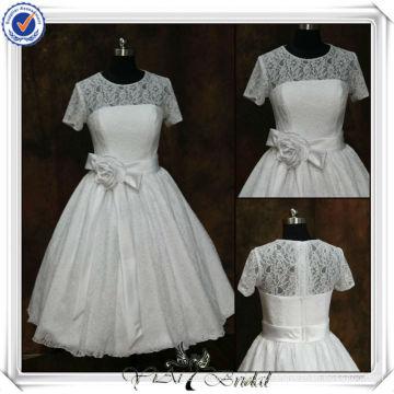 JJ3508 Ball Gown Vestidos de casamento de comprimento com mangas