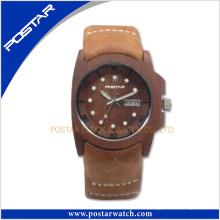 Reloj ecológico de promoción de madera natural