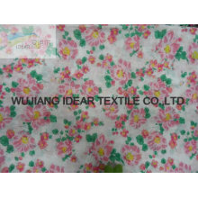 Polyester Flower Printed Satin Fabric For Bedding Set customize-made