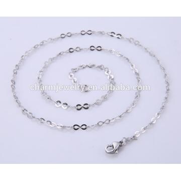 2016 novo design simples colar de corrente de aço inoxidável de jóias BSL003