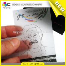 Hot sale transparent plastic metal business card