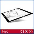 Planche à dessin acrylique Slim LED dimmable LED lumière jusqu'à la planche à dessin