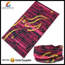 heißer billiger Großhandel 100% Polyester im Freien magischer Schal röhrenförmige multifunktionale Schädelbanane