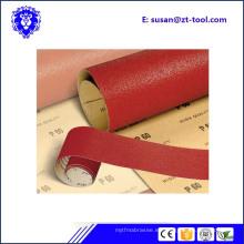 rollo de papel abrasivo de arena / rollo jumbo para hardware de muebles