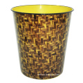 Round Plastic Abstract Printed Open Top Waste Bin (B06-2020-6)