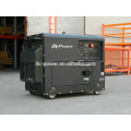7KW silent electric three phase air-cooled diesel generator with digital panel
