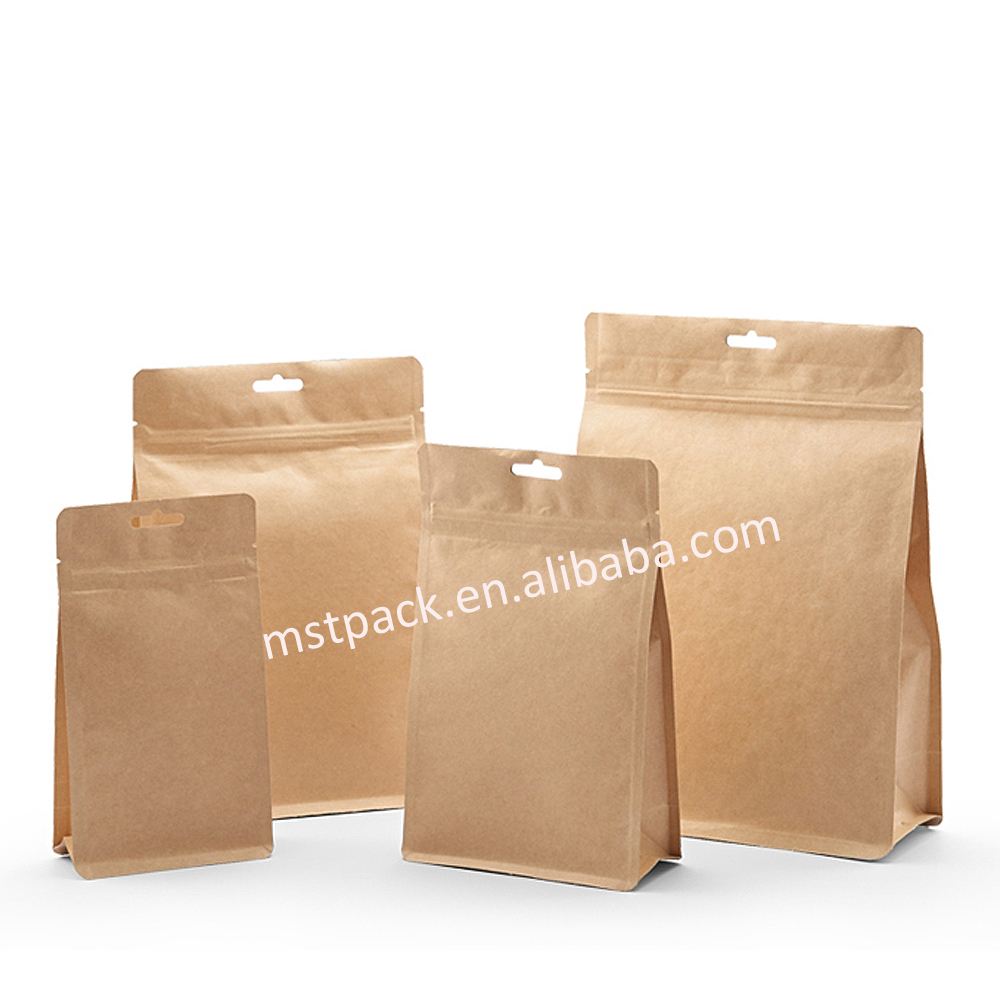 Kraft Paper Block Bottom Bag