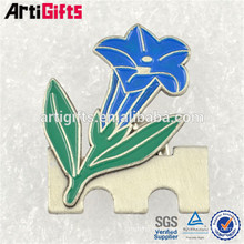 Lapel pin manufacturers china metal flower lapel pin