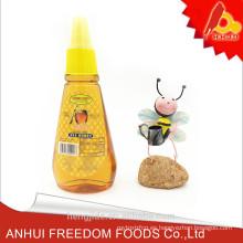 Producto de miel natural pura ámbar de la botella plástica 400g
