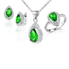 925 Серебряные ювелирные изделия Комплект Кольца и подвески Ювелирные изделия