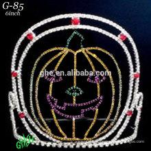 Las nuevas coronas del día de fiesta de Halloween de la tiara de la araña del rhinestone