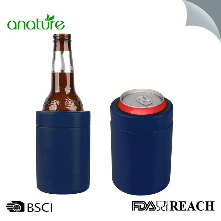 12oz Stainless Steel Double Wall Vacuum Can Cooler