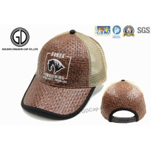 2016 New Style Straw Mesh Baseball Cap, Straw Trucker Hat