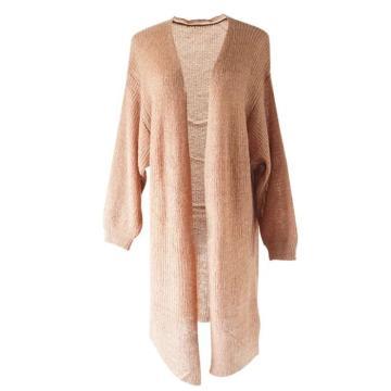Вязаное длинное пальто по оптовой цене