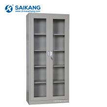 Armário de vidro do equipamento médico do metal da porta SKH052 com fechamento