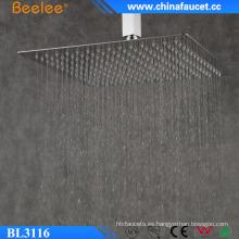 Beelee 16 '' Baño de ahorro de agua Untra Thin Overhead Shower