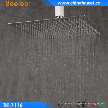 Beelee 16′′ Water Saving Bathroom Untra Thin Overhead Shower
