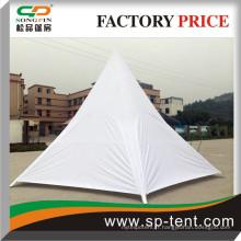 Tente de protection en étoile polyester de 8 m avec couvercles latéraux blancs entièrement fermés