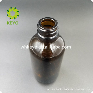 Cosmetic packaging container dropper amber black glass bottle 60 ml for serum essential oil