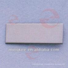 Étiquette en métal avec logo personnalisé pour sac / sac à main pour femme (N27-839S)