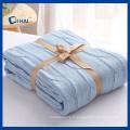 Couverture de 100% en coton couleur bleue (QHD99801)
