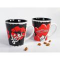 2-Tone Colors Mug with Valentine Imprintings