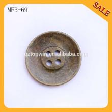 MFB69 4 botones de costura personalizados de la insignia del metal del agujero para la ropa