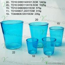 Moderno feito à mão vaso de vidro / mão feita vaso de vidro transparente / mão delicada máquina de corte pressionado vidro transparente vaso de flor