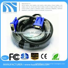 Cable plateado oro / niquelado HD15pin 3 + 6 VGA al cable del VGA para el proyector, LCD 1.5m, 1.8m, 2m, 3m, 5m, 10m, 20m, 30m, 40m, 50m, 60m ...