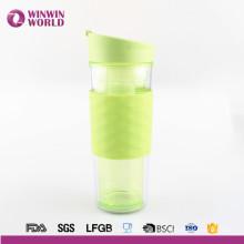2017 vaso nuevo del plástico del parte movible de la pared del doble del regalo de la Navidad del producto para el té / el café / el jugo