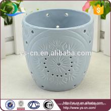 Flower design modern ceramic tealight candle holder