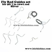 Direct Factory Rod Componentes del edificio Silver Fly Rod Guía Set