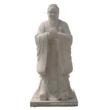 Estatua de mármol de la tradición china Estatua de Confucio en venta