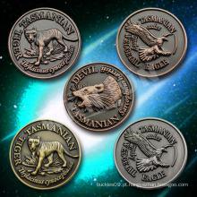 Moeda antiga feita à medida, moeda animal antigo, moeda lembrança