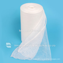 High Quality medical bleached absorbent cotton gauze roll