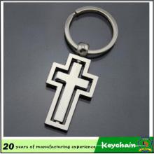 Gros Croix Design en métal porte-clé vide