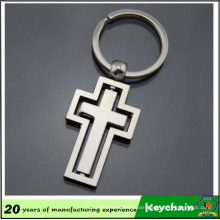 Wholesale Cross Shape Design Metal Blank Keychain