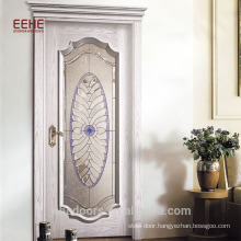 Solid Wood Flush Door with Full View Glass Tempered China