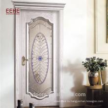 Дверь из массива дерева с полным видом из закаленного стекла Китай