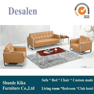 Khaki Color Office Sofa with Stainless Steel (8528)