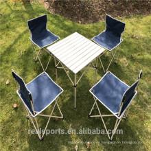 Mesa de picnic plegable Niceway y sillas de 5 Set para la familia al aire libre Camping Beach Party