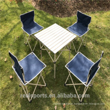 Niceway Foldable Picnic Table and Chairs 5 Set for Family Outdoor Camping Beach Party
