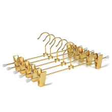 Custom gold color evening dress clothes hangers with rose gold clips