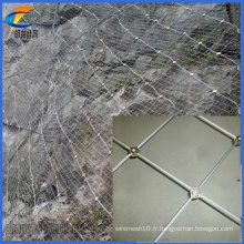 China Factory Supply Hot Sale Tissu en maille flexible en métal / Acier inoxydable Wire Rope Mesh Net, Slope Protective Screening