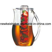 Shatterproof Acrylic Infused Water Pitcher Aromatisierte Infusion trinkt frische gesunde hausgemachte Frucht