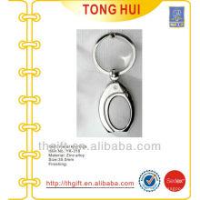 Blank nickel metal keychains/keyrings w/any custom logos
